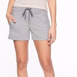 Athleta Modern metro striped shortie shorts